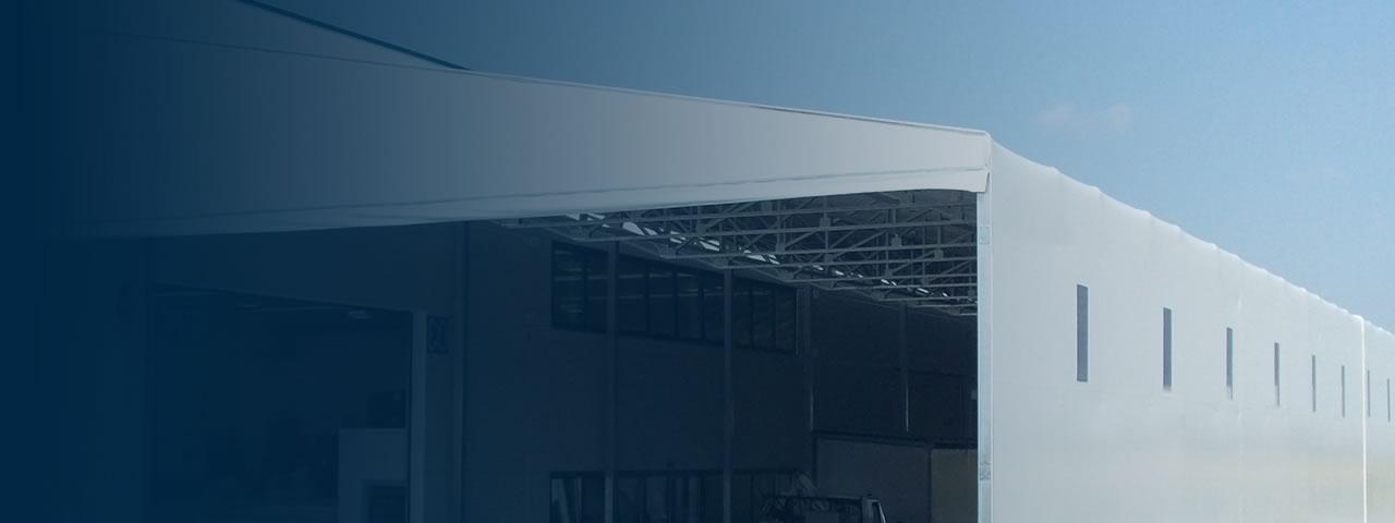 Coperture industriali - Capannoni mobili, capannoni in ferro e pvc - Kopritutto